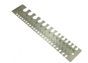Wire Gauge, Rectangle, 0-36 Jewellery Making. M0423